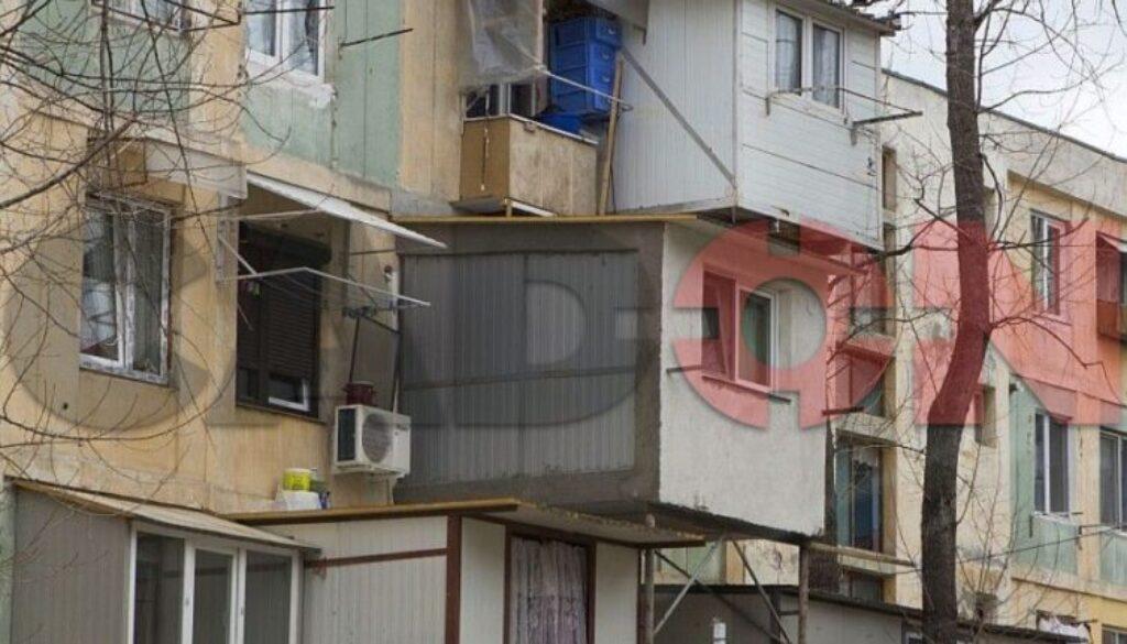 balcon, parterul blocului, balcon parterul blocului