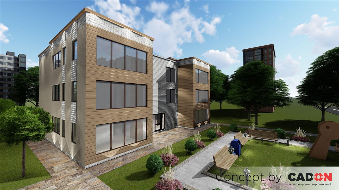 locuinte colective, imobile de locuinte colective, parter si 2 etaje, locuinte incapatoare, Cad-on.ro, proiect locuinte