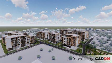 ansamblu, ansamblu locuinte colective, demisol, parter si 5 etaje, locuinta incapatoare, spatii administrative, proiect locuinte