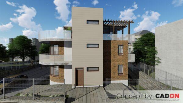 locuinta individuala, casa Dreamsville, proiect locuinta, demisol, parter, etaj , locuinta incapatoare, Cad-on.ro, curte, gradina, terasa, locuinta mare