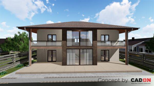 locuinta individuala, casa Glamorouss, proiect locuinta, parter si etaj, locuinta incapatoare, Cad-on.ro, curte, gradina, terasa, locuinta mare
