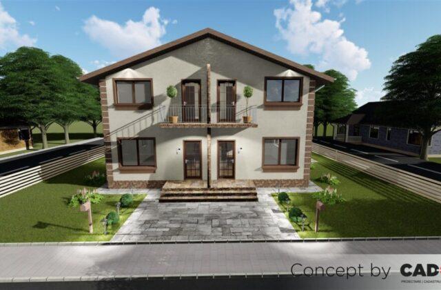 duplex Charlotte, proiect locuinta, locuinta individuala, parter si etaj, locuinta incapatoare, Cad-on.ro, curte, gradina, terasa