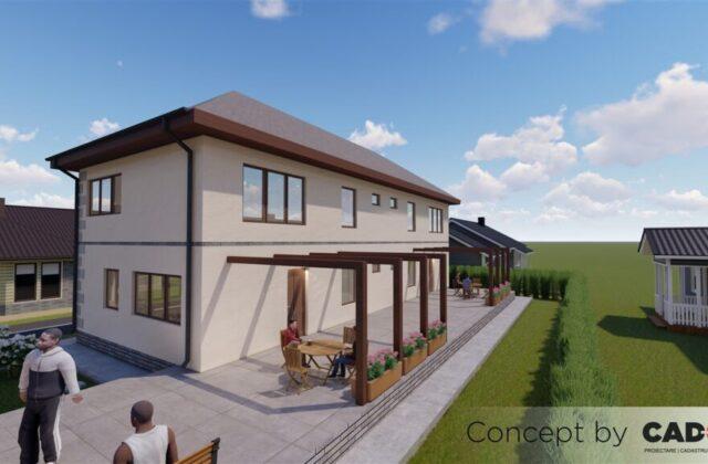 duplex LightHouse, proiect locuinta, locuinta individuala, parter si etaj, locuinta incapatoare, Cad-on.ro, curte, gradina